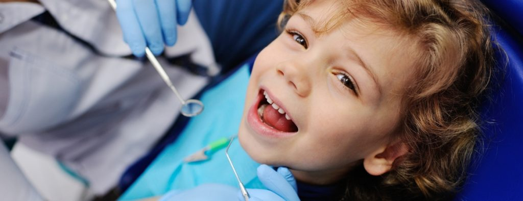 Child getting cavity filled